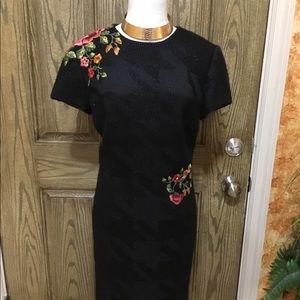 Peggy Jennings embroidered knee length spark dress
